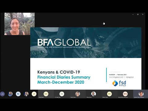 Webinar on Kenyans & COVID-19: Financial diaries summary from March to December 2020