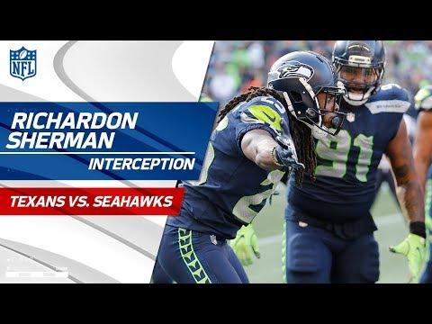 Video: Richard Sherman's Huge INT Off Deshaun Watson's Pass! | Texans vs. Seahawks | NFL Wk 8 Highlights