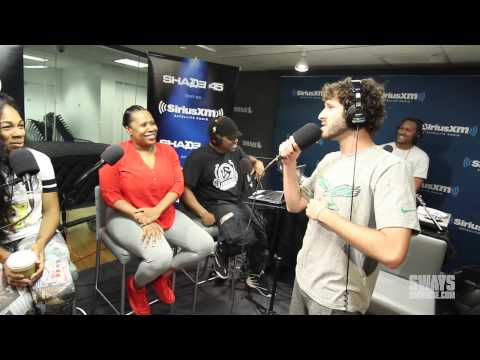 "Lil Dicky Performs ""Lemme Freak"" in Heather B and Tracy G Lap Live In Studio for Concert Series"