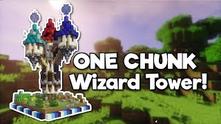 Minecraft: Wizard Tower in ONE CHUNK! [Tutorial]