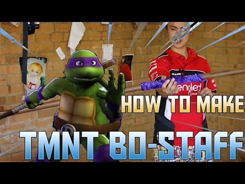 HOW TO MAKE A TMNT POLE TUTORIAL (TURNING PLASTIC INTO WOOD)