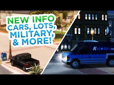 NEW INFO ON CARS, LOTS, MILITARY CAREER, LAPTOPS, & MORE! // The Sims 4: News & Info