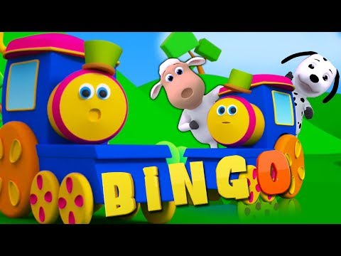 Bingo der Hund Lied   Bob der Zug   Kinderreime   3D German rhymes for Kids   Bingo The Dog Song