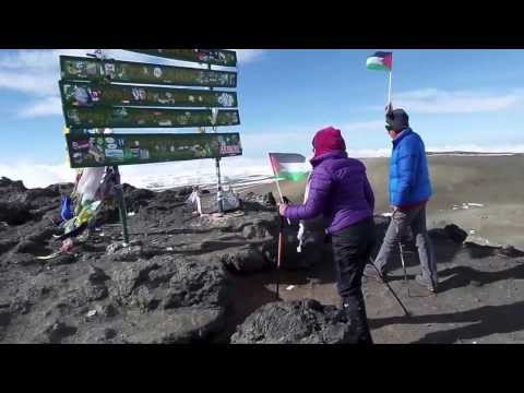 Yasmeen and Mutussam Reach Uhuru Peak