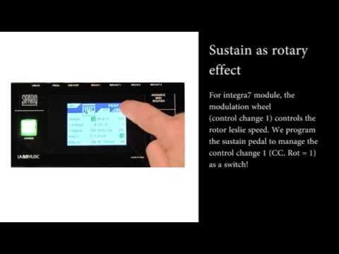 Sipario: sustain as rotary effect