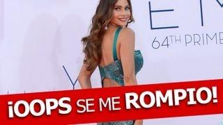 !Sofía Vergara Vestido Se Rompe en Premios Emmy!