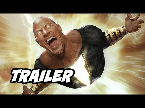 Black Adam Trailer - Superman Justice League and Shazam Movie Easter Eggs DC Fandome 2020