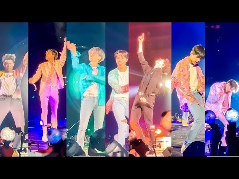 BTS @ Rose Bowl Concert (Floor FanCam) Day 2  Close Up Moments!!!