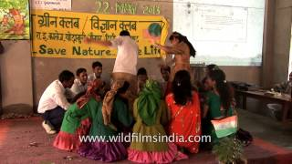 Special Hindi song presentation by the students of Government Inter college Ghorakhori during the International Day for Biological Diversity Water and Bio-di...
