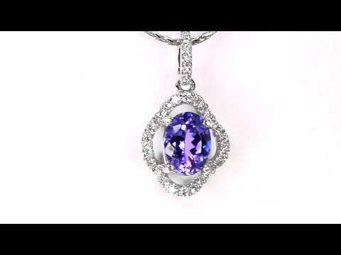 Tanzanite Pendant 1.47 Carat Blue Violet Vivid Color