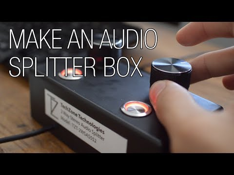 Build your own Audio Splitter Box with Volume Control