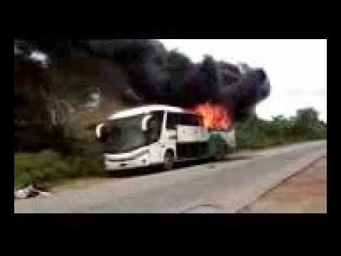 Luxurious Bus Burnt Down After Loaded from Abuja to Lagos