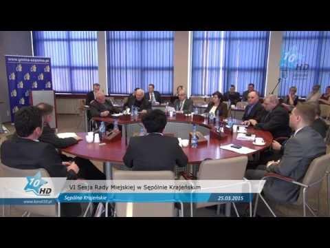 VI Sesja Rady Miejskiej w Sępólnie Krajeńskim, 25.03.2015 r.