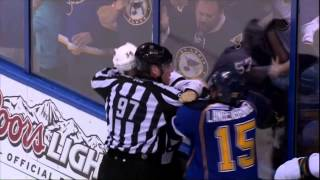 Nonton Brawl end of game. San Jose Sharks vs St. Louis Blues 4/14/12 NHL Hockey Film Subtitle Indonesia Streaming Movie Download