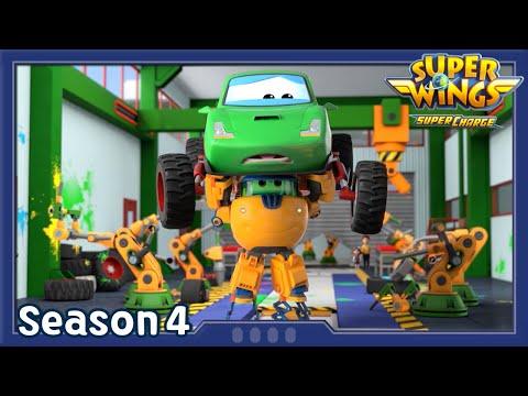 Car Factory Chaos | Superwings season4 | EP03