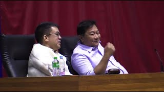 Both chambers, House and Senate, jointly hold the special session for the extension of martial law. Video and editing by RYAN LEAGOGO