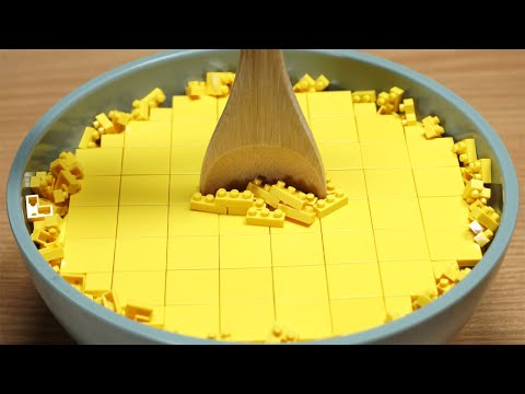 Lego Waffles and coffee - Lego In Real Life 5 / Stop Motion Cooking & ASMR