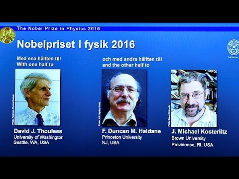 Σε τρεις επιστήμονες απονεμήθηκε το Νόμπελ Φυσικής