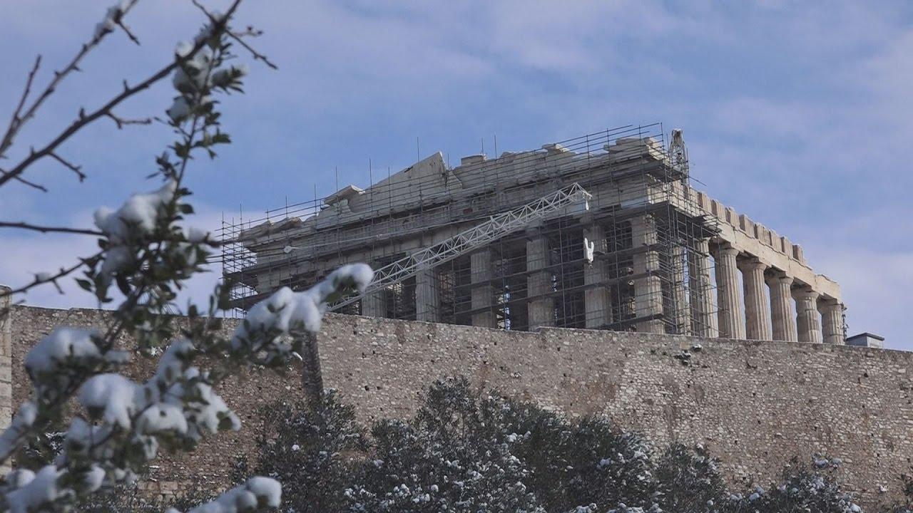 Η χιονισμένη Αθήνα