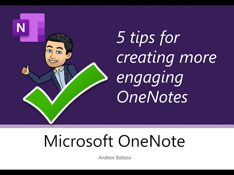 5 tips for creating more engaging OneNote pages 🙌