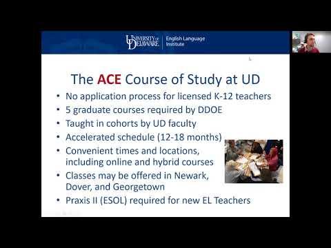 UD ACE Teachers Initiative   Additional ESOL/Bilingual Certification ...