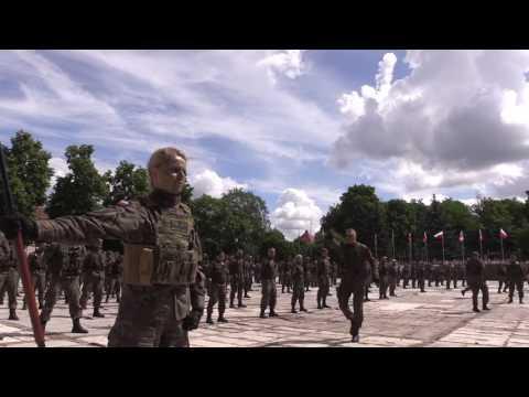 Pokaz walki wręcz żołnierzy 15GBZ