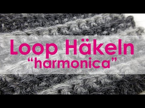 "nadelspiel Adventskalender 2014 * 6. Dezember * Gehäkelter Loop ""Harmonica"""
