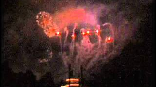 Home video from 2003 of the Disneyland Resort Christmas Fireworks Show with sound from New Orleans.