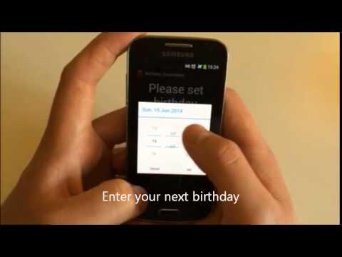 Video of Birthday Countdown