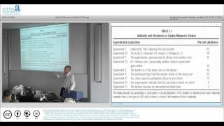 MOOC Social Psychology Lecture 6 Social influence and Social Change