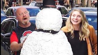 Video Scary Snowman Prank US Tour 2018 - Over 100 Reactions! MP3, 3GP, MP4, WEBM, AVI, FLV Januari 2019