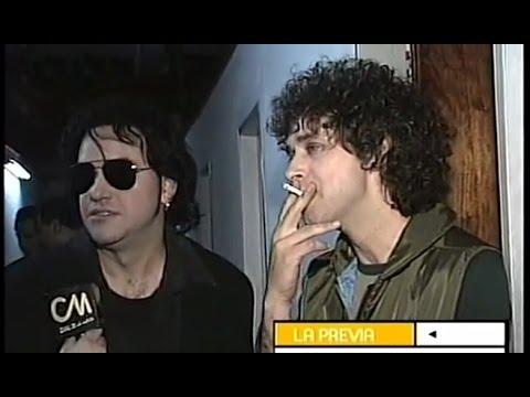 Gustavo Cerati video Entrevista 1998 - Backstage 7 Delfines