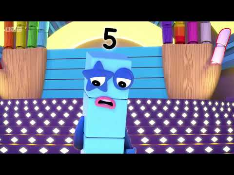 Numberblocks Five and Friends S03E13 2018 learn the number Preschool animation