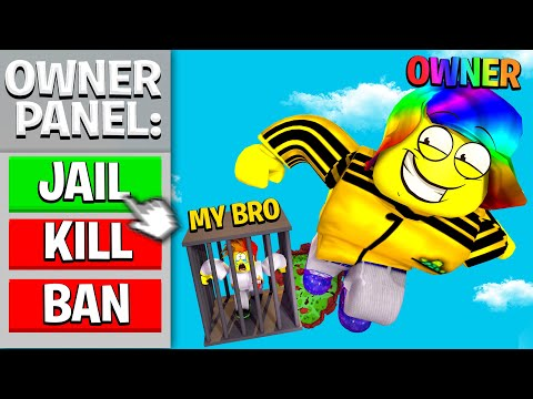 The Owner gave my Brother OWNER PANEL.. We DUELED (Roblox)