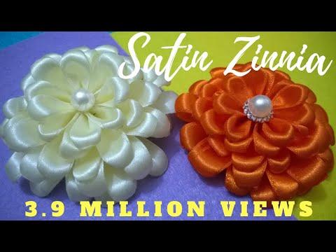 D.I.Y. Satin Zinnia Flower - Tutorial
