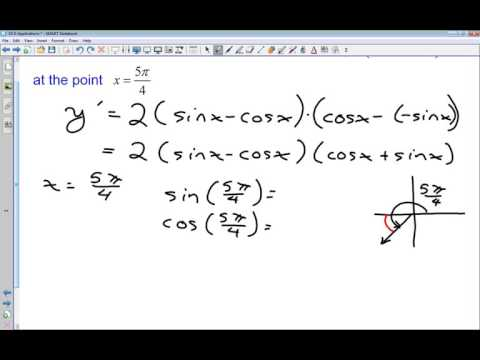 19 D Applications I   Equation of Tangent