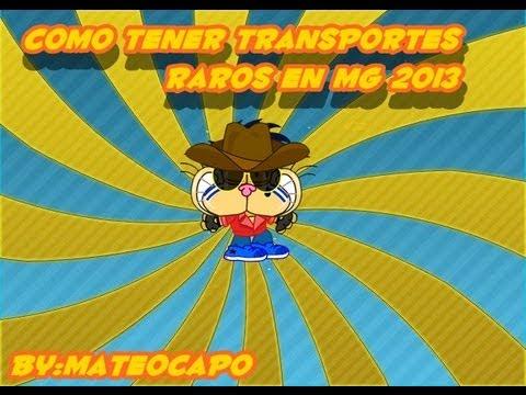 COMO TENER CUALQUIER TRANSPORTE RARO EN MUNDO GATURRO 2013 ACTUALIZADO