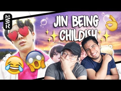 GUYS REACT TO BTS 'Jin Literally Just Acting Like a Child for 10 Minutes Straight'