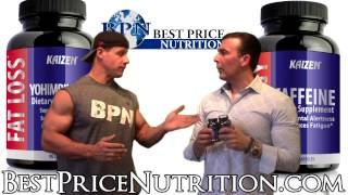 http://www.bestpricenutrition.com/kaizen.html - Joe and Glenn talk about Yohimbine and Caffeine, two proven fat burners to help you lose weight and get ripped.
