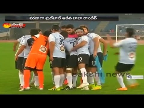 MPs and Bollywood Celebrities in Charity Football Match in Delhi