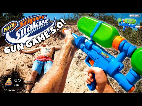 NERF GUN GAME   SUPER SOAKER EDITION 5.0 (Nerf First Person Shooter)