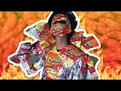 DIY HOT CHEETOS COSTUME 100 LAYERS OF HOT CHEETOS!!!