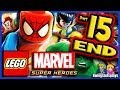 LEGO Marvel Super Heroes Walkthrough Part 15 Good & Bad Vs Final Boss Galactus!