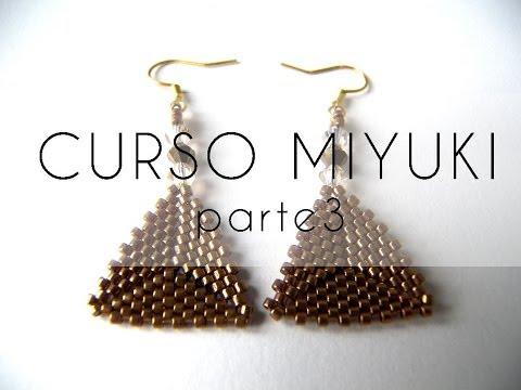 Curso Abalorios - Tecnicas con Miyuki ( Hacer un triangulo ) - 3ª parte