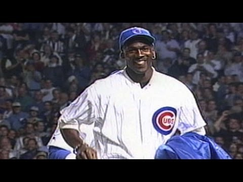 SF@CHC: Michael Jordan throws first pitch at Wrigley_Best videos: Baseball