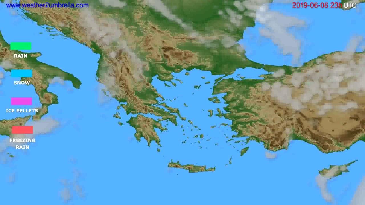 Precipitation forecast Greece // modelrun: 12h UTC 2019-06-03