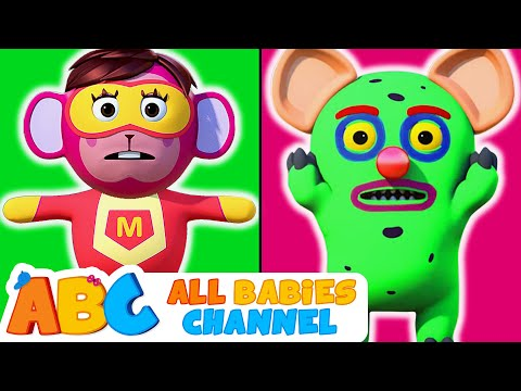 Head Shoulders Knees & Toes | MONSTER Vs SUPERHEROES | Nursery Rhymes by All Babies Channel