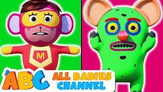 Head Shoulders Knees & Toes | MONSTER Vs SUPERHEROES | Nursery Rhymes by All Babies Channel
