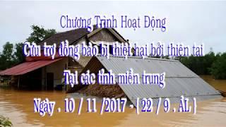 Cứu trợ 3 tỉnh miền Trung- Ban TTXH GHPG BR_VT và Ban Thiện Nguyện Ánh Đạo Viện Chuyên Tu