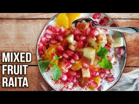 Mixed Fruit Raita Recipe | How To Make Raita | Fruit Raita using Curd | Quick and Easy | Varun